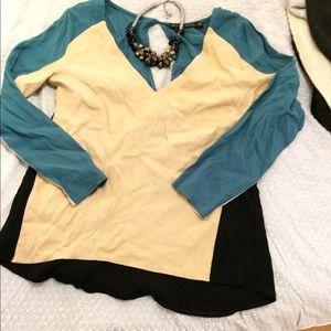 Zara Woman color block top